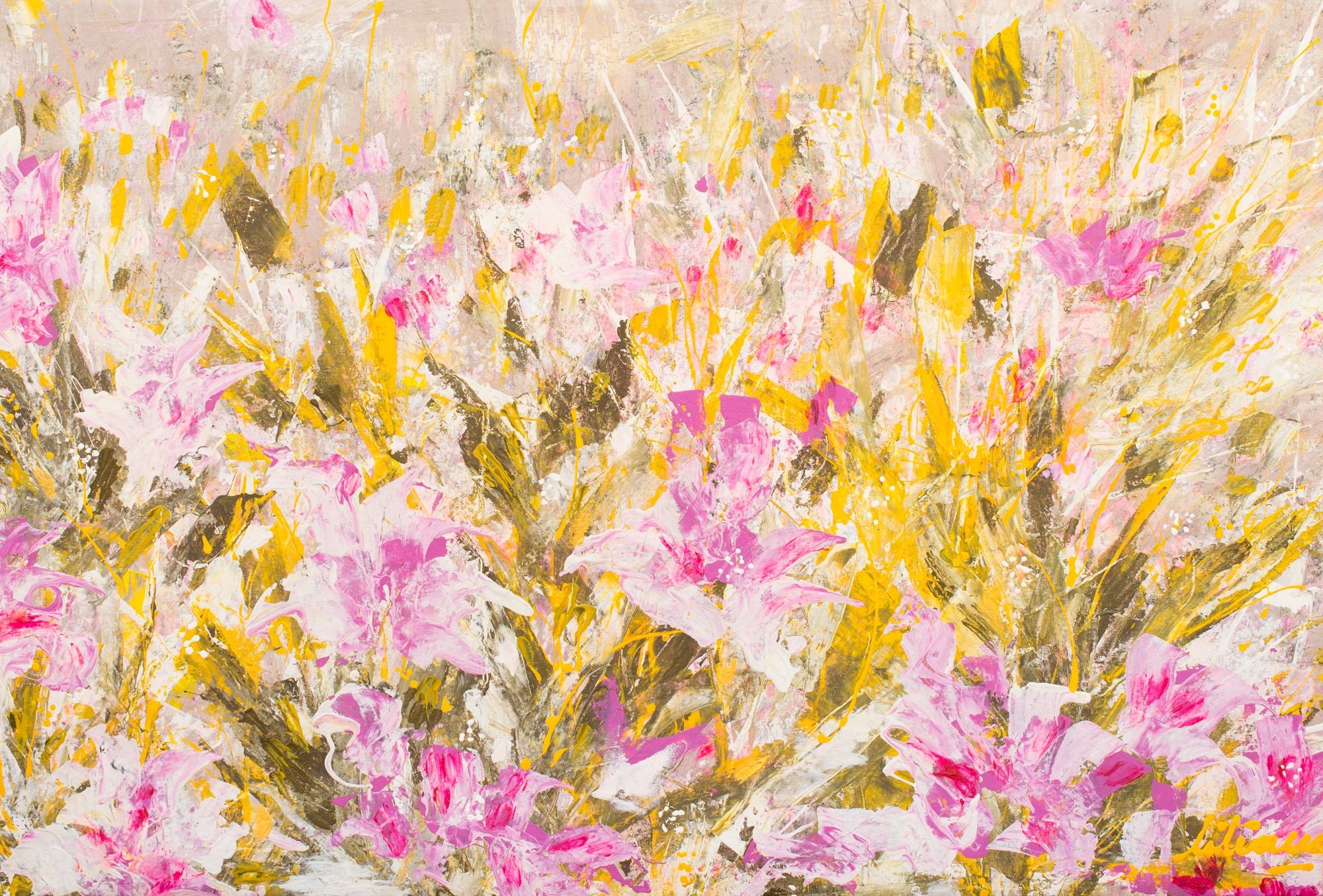 Pink Flowers By Liliana Maya Artcloud
