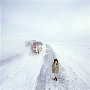 88045 Bjork Standing in Snow Color, 1988