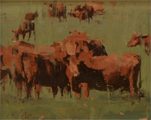 Red Angus Sketch #2, 2019