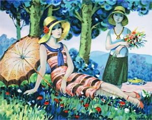 Jeunes Filles sous les Arbres (Girls under the Trees), 1986