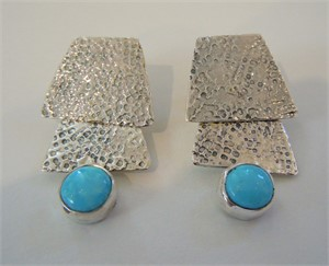 Sleeping Beauty Turquoise Post Earring