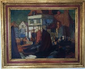 Harbor Scene, Circa 1920