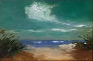 Viridian Sky Over Dunes