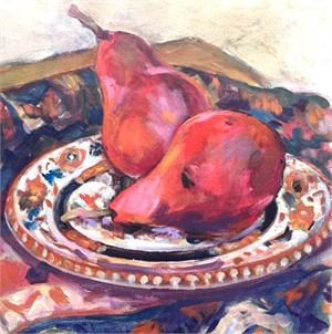 Pears on Tankersley Plate