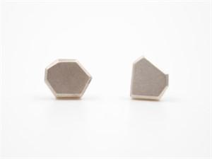 Sterling Silver Facet Post Earrings
