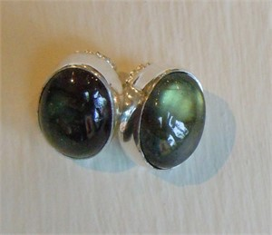 Sterling Labradorite Post Earring