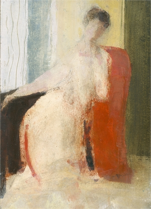 The Red Chair by David Brayne R.W.S.