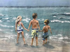Beach Kiddos : a private commission, 2019