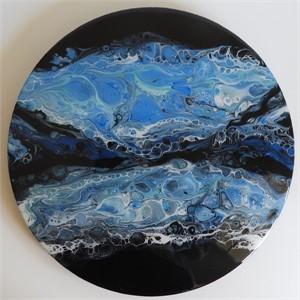 "Pirouette 14"" Black Flow Wave, 2018"