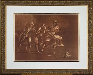Homage a Leonardo d' Vinci (Three Figures Advancing from De La Bataille Vol. I), 1978