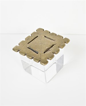 Square Cogwheel Ashanti Weight, 19th c