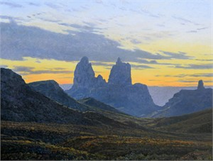 Mule Ears, Morning, Big Bend, 2017