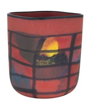 Red Matte Square Vase, 2005