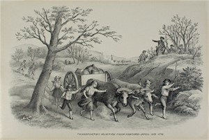 Transporting Munition From Concord, 4/19/1775, c1890