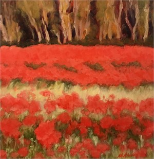 Poppies by the Woods, 2018