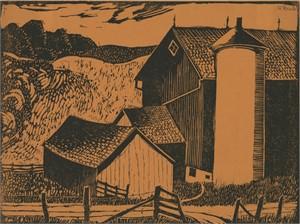 Silo, Sheboygan County, 1936