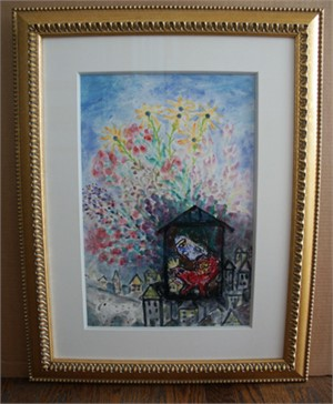 Famous Artist Series:  Homage to Chagall Bouquet Over the Village, 2008