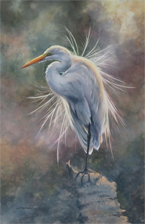 Great Egret at Daybreak by Sherry Egger