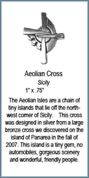Pendant - Silver Aeolian Cross 8354, 2019