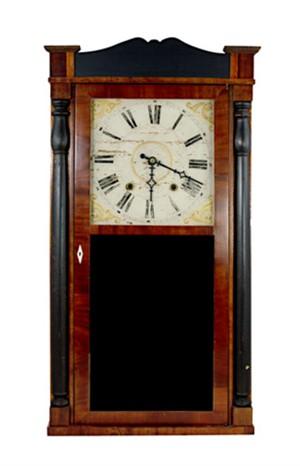 30 Hour Clock.  Manuf:  Jeromes & Darrow-Bristol, CT, c.1830