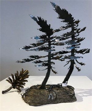 Two Pines on Rock 3384
