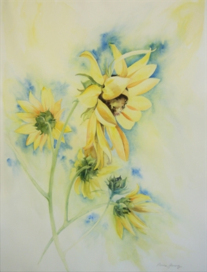 Sunflowers by Roura Young