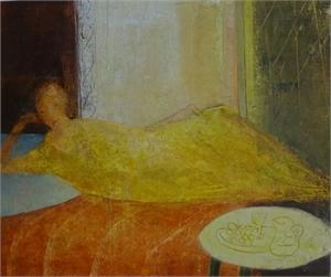 Yellow Dress by David Brayne R.W.S.