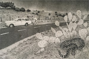 Blow-out on Highway 6, AP, 1986