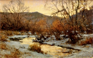 Winter Sky at Evening by Michael J Lynch