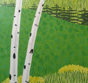 Field and Birches