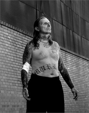 03050 Indian Larry Bandaged Arm BW, 2003
