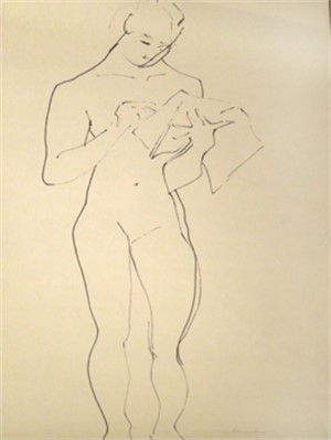 Standing Nude Reading