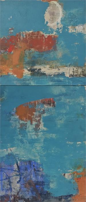 Tesoro Turchese (Turquoise Treasure), Diptych by Allison B. Cooke