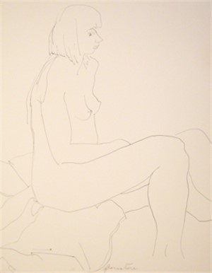 Seated Female Nude, Facing Right