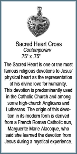 Pendant - Sacred Heart Cross - 3972, 2019