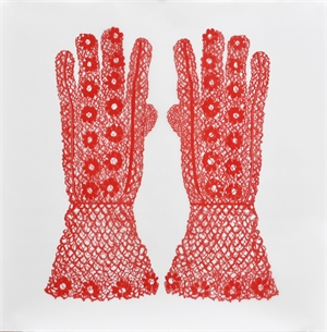 Daisy Gloves (Red), 2019