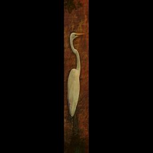 Solo Egret-Orange w/Gold Frame
