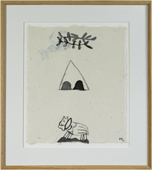 Horse in Desert w/Teepee & Branches (2nd Image on Reverse), 1991