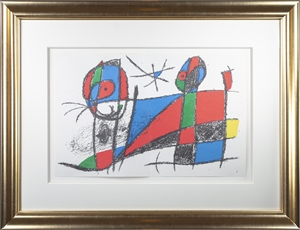 "Original Lithograph VI from ""Miro Lithographs II, Maeght Publisher"", 1975"