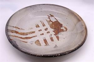 Large Grey Shino Glazed Plate/Bowl