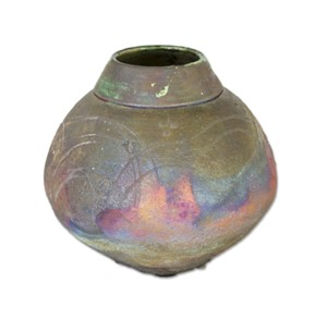 Raku Vase With Fireworks, 1984