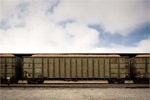 Train Cars, Allendale, SC by Forest McMullin