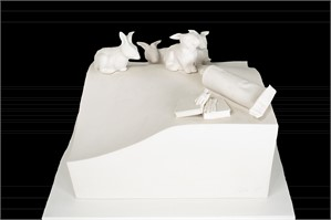 Follow Directions/Rabbits, signed, 1986