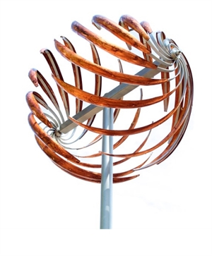 """Spiral Sphere - Color Patina 28""""x28""""x106"""", 2020"""