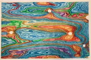 Untitled, turquoise, orange & purple abstract, 2019