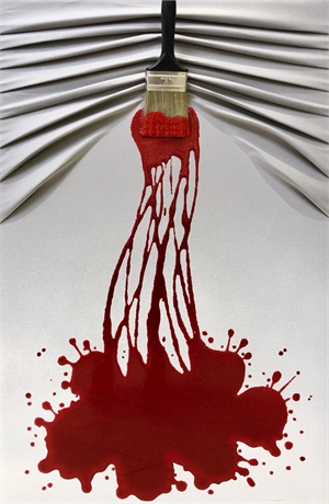 """Let's Paint"" Red Splash on White, 2019"