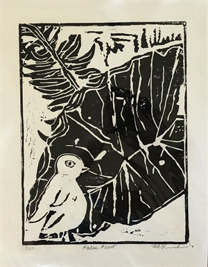 Black and White Palm Monoprint 3/20  (SPECIAL PRICING), 2020