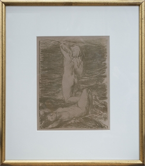 Two Nudes at the Beach, c1895