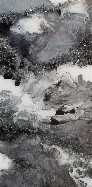 Modern Classic - Fluid Acrylic/Resin on Canvas, 2020