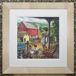 Farm Scene: Farmer's Wife With Children - Big Cedar Lake, 2015